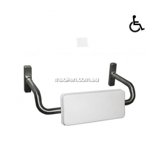 View PBR35A Padded Toilet Backrest with Curved Arm details.