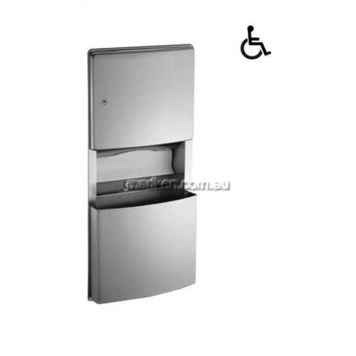 View 204623 Combo Unit, Towel Dispenser, Waste Bin 11.2L details.
