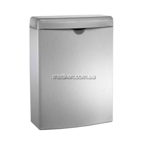 View 20852 Sanitary Waste Bin 3.8L Surface Mounted details.