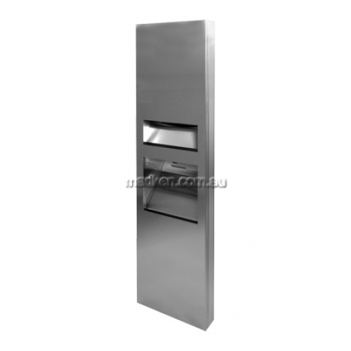 View 3 In 1 Compliant Combo Unit, Towel Dispenser, Hand Dryer and Waste Bin 26L details.