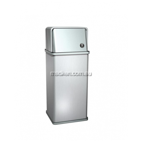 View 0810 Free Standing Waste Bin 54L With Lid details.