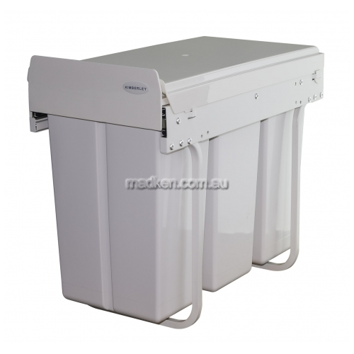View KRB32 Triple Slim Line Slide Out Waste Bin details.