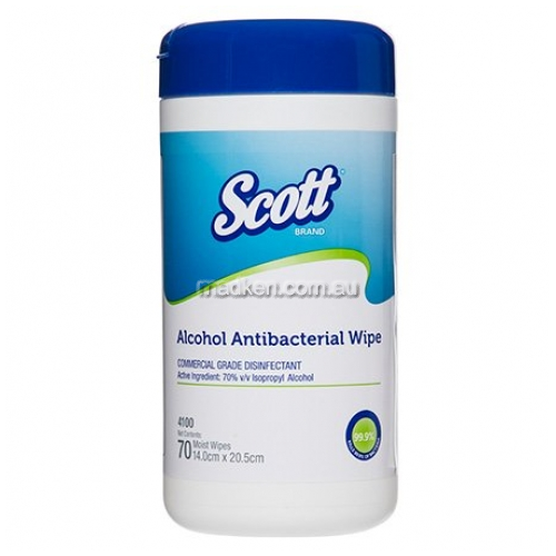 View 4100 Antibacterial Wipes Alcohol-Based details.