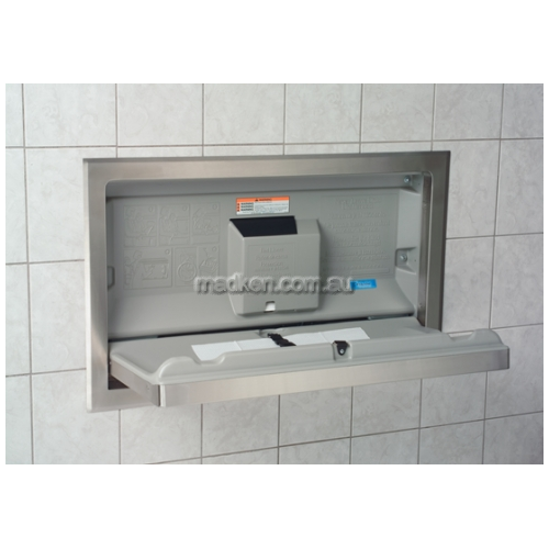 View KB110 Baby Change Table Horizontal, Recessed details.