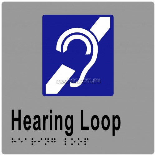 View ML16093 Braille Sign, Hearing Loop details.