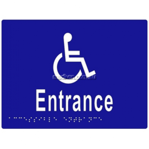View ML16234 Braille Sign, Accessible Entrance details.