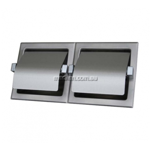 View ML263S Double Toilet Roll Holder Surface Mounted details.