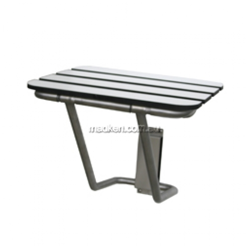 View ML990 Folding Shower Seat with Laminate Slat Top details.