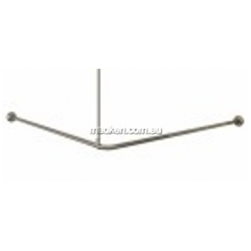 View RBA4171-101 Shower Curtain Rail, Hooks and Curtain Set details.