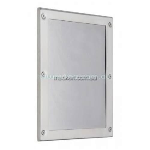 View RBA8110 Stainless Steel Mirror, Front Fix details.