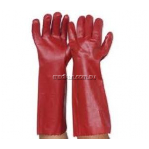 View PVC Red Single Dip Glove details.