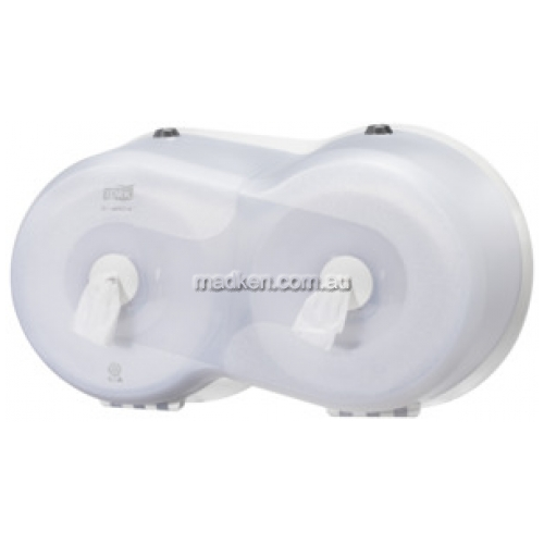 472028 Toilet Roll Dispenser Twin Mini Wave
