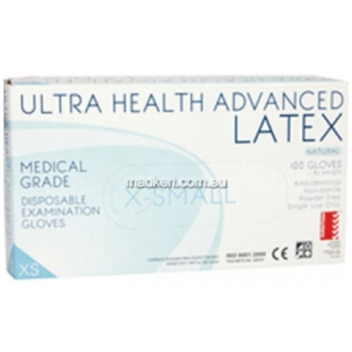 View ULTRA HEALTH   Disposable Gloves, Powdered, Latex, Large details.