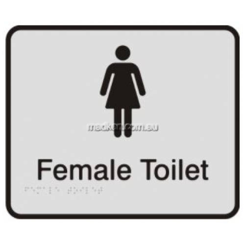 View Female Toilet Sign with Braille details.