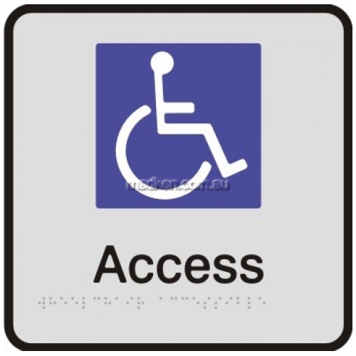 View VISA Braille Sign, Disabled Access details.