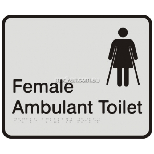 View VISA Braille Sign, Female Ambulant Toilet details.