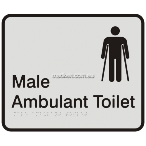 View VISA Braille Sign, Male Ambulant Toilet details.