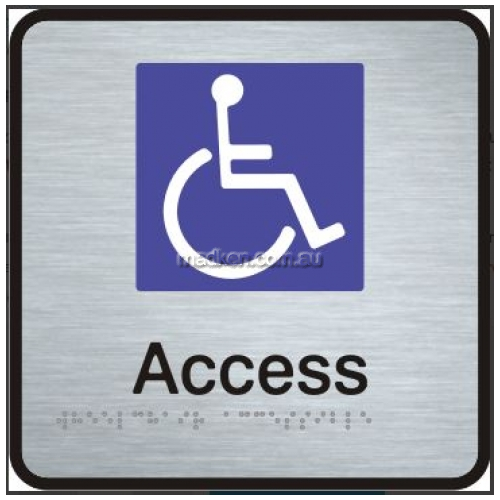 View VISS Braille Sign, Disabled Access details.
