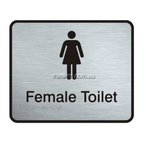 View VISS-FT Female Toilet Sign with Braille details.
