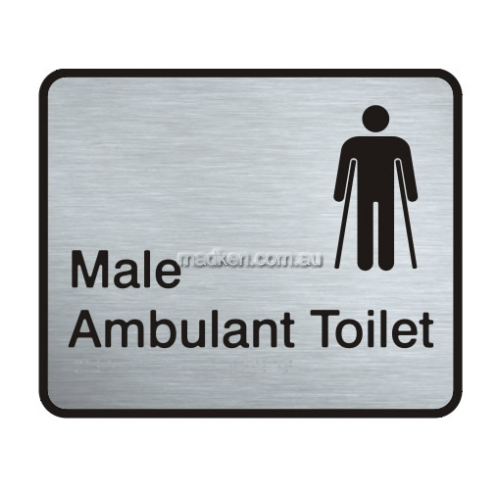View VISS-MAAT Male Ambulant Toilet Sign details.