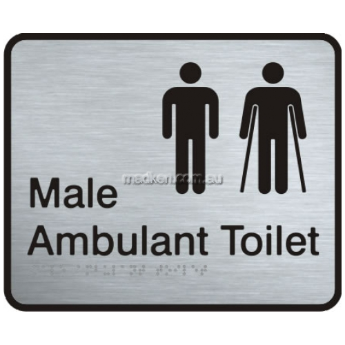 View VISS-MMAAT Male and Male Ambulant Toilet Sign Braille details.