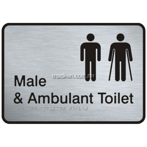 View VISS-MMAAT2 Male and Male Ambulant Toilet Sign with Braille details.