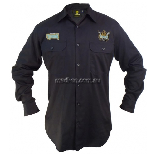 View Titans Long Sleeve Work Shirt Black details.