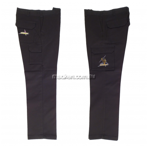 View Cargo Work Pants Black details.