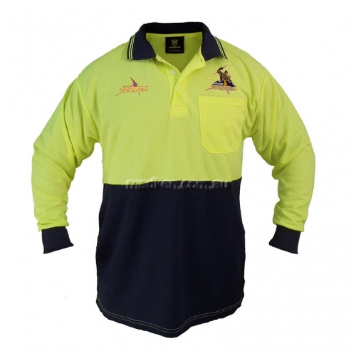 View Hi-Vis Long Sleeve Polo Yellow details.