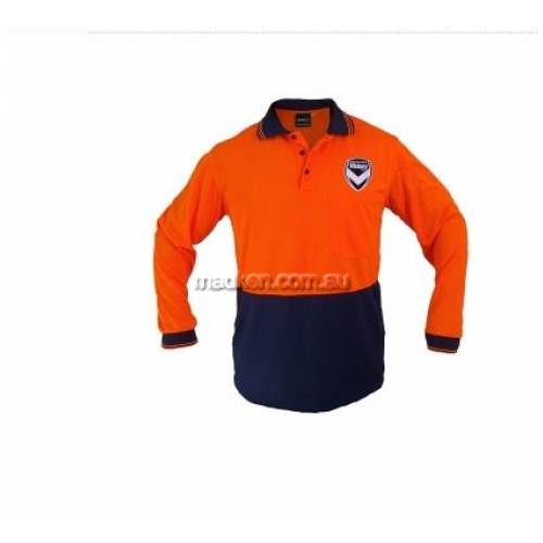 View Hi-Vis Long Sleeve Polo Orange details.