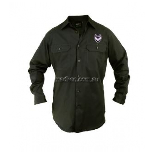 View Long Sleeve Work Shirt Black details.