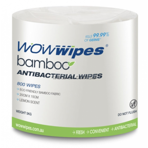 View Bamboo Fabric Antibacterial Wipes, 3200 Sheets details.
